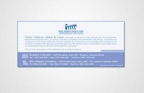 Oreck, Crighton, Adams & Chase - Magazine Ad