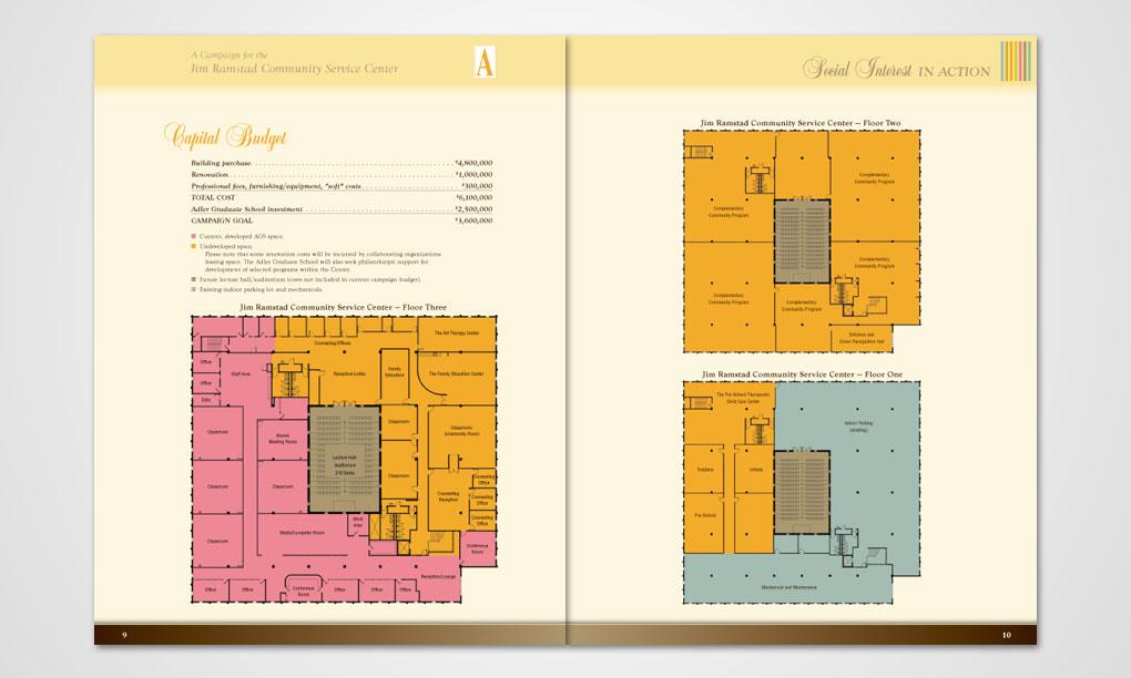 adler graduate school - brochure - overdog art