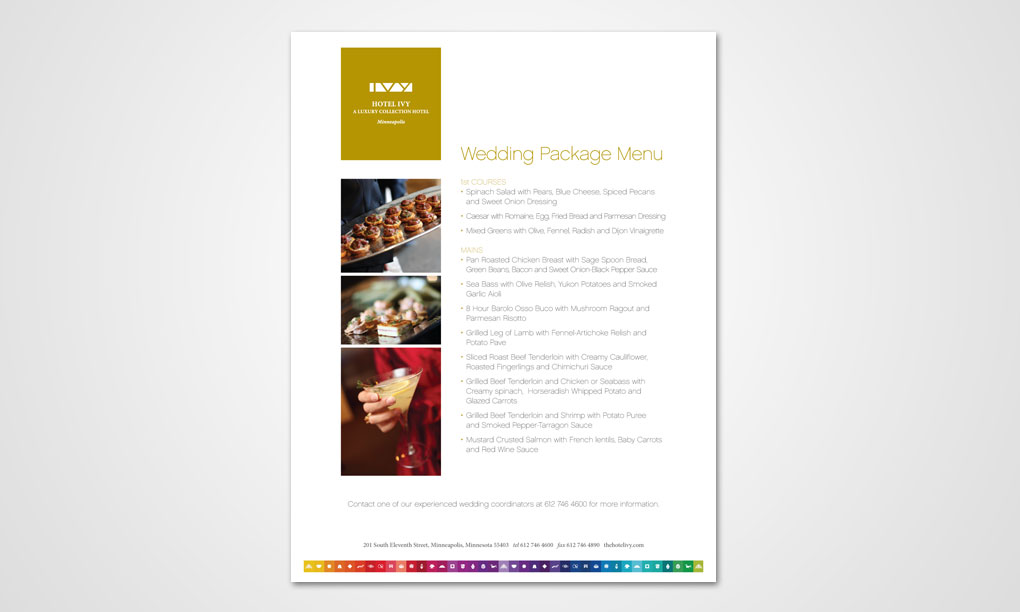Hotel Ivy  Wedding Flyer  Overdog Art  Freelance Graphic Design