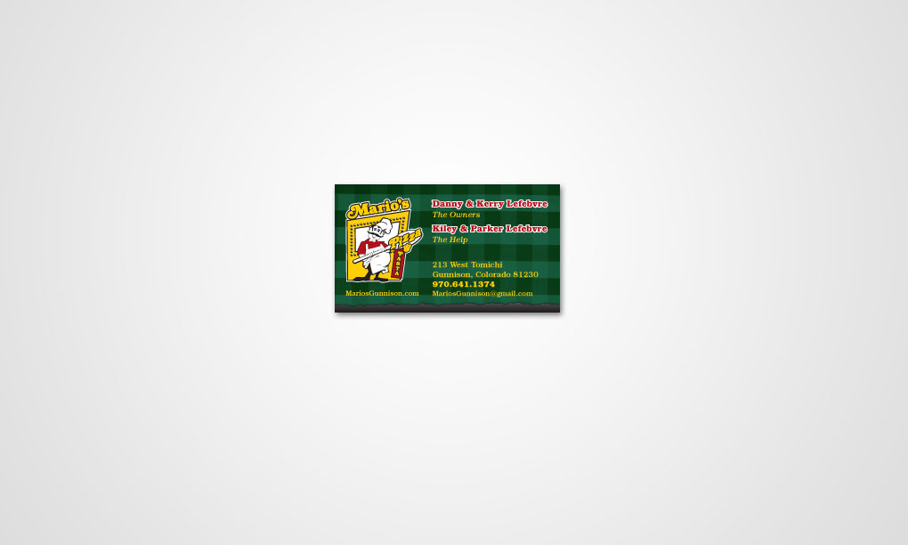 Mario's Pizza - Business Card