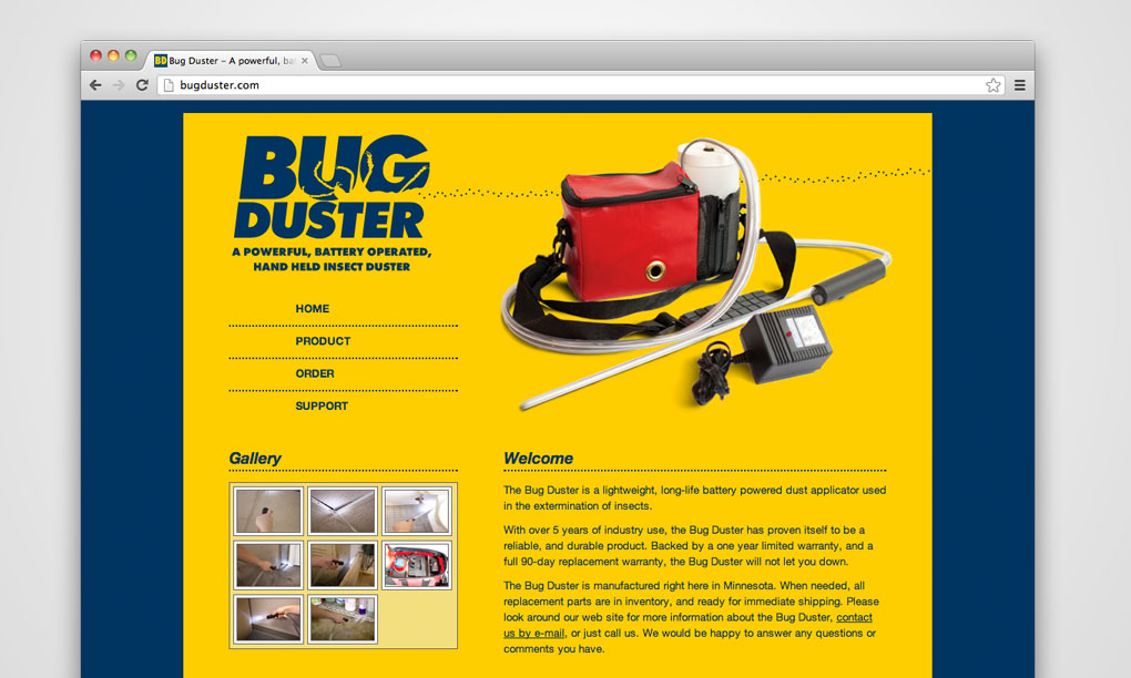Bug Duster - Website