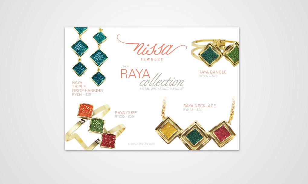 Nissa Jewelry Raya Postcard Overdog Art Freelance Graphic