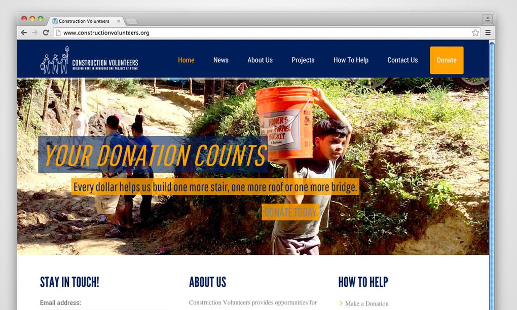 Construction Volunteers - Website