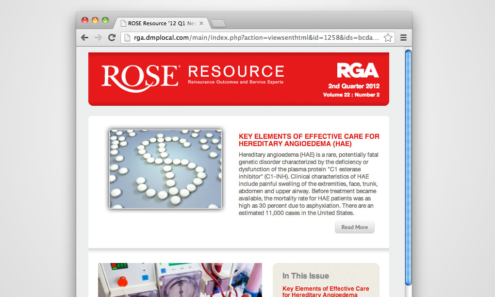 RGA Reinsurance - ROSE Resource Email Newsletter