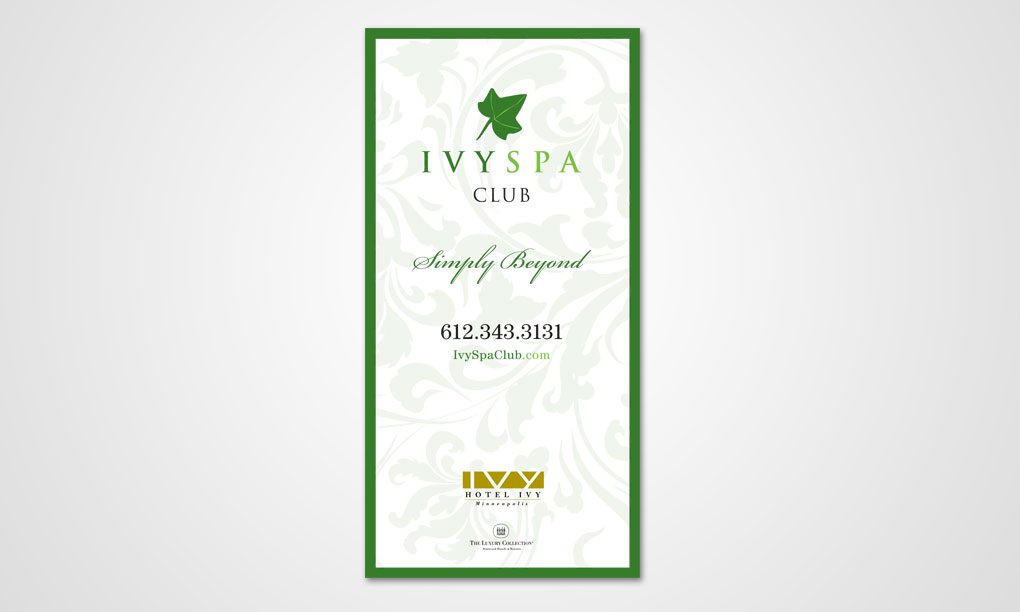 Ivy Spa Club - Parking Lot Sign