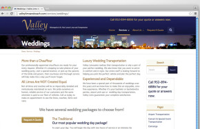 Valley Limo & Coach - Website